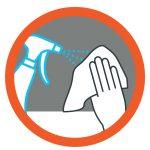 Mesures de prévention: désinfinction des équipements